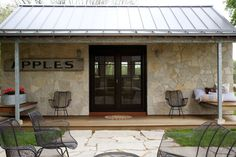 In this post you'll get to tour a 350 sq. tiny stone cabin that feels modern, rustic and woodsy all at the same time. See what I mean inside. Prefab Cottages, Stone Cabin, Kansas, Tiny Cabins, Stone Houses, Stone Cottages, Small House Design, Tiny House Plans, Suites