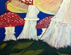 This painting Teeth is of a toadstool/ Fly Agaric by ArtsofRob