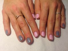 Semilac Hybryda | Lady in Grey + Pink Smile