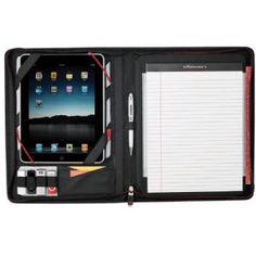 New Elleven Zippered Black iPad/Tablet Padfolio Writing Pad Company Presentation, Presentation Folder, Tech Branding, Digital Photo Frame, Ipad Tablet, Business Card Holders, Dress For Success, Apple Products, School Supplies