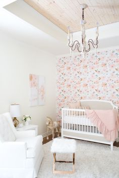 Tour a Bright, Blooming Nursery Perfect for a Baby Girl | Photography: Brandi Smyth