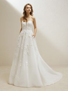 7d01cea8cbdf Pronovias one Vigo wedding dress with a princess skirt