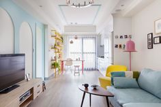 <p>Situated in Kaohsiung City, Taiwan, this bright and colorful apartment belongs to a lively teacher. Designed by House Design Studio, the residential project uses color as one of the essential elements to create a positive ambience and high energy vibe. The home very much resembles the client's personality, which is joyful and bright. House Design […]</p>