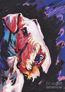 Airedale Terrier Painting - Need Some Aire by Lea S