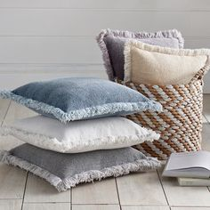 The cover of our Stonewashed Fringed Pillow has that wonderful casual, stonewashed-look front and back in classic and neutral hues. Crafted in India in four sides of the pillow are also trimmed in fringe for a fun look. A soft polyester-filled insert adds comfort to this big, easy-going style. Accent pillow with a casual, stonewashed-look front and back Fringed detailing on all four sides Cotton/polyester blend cover ...