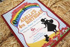 Invites from Wizard of Oz party #wizardofoz #partyinvites