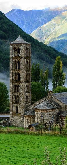 Romanesque architecture appeared in Catalonia (Spain) around 1000 AD, and is one of the glories of that region where it is said there are over 2,000 Romanesque buildings, the stars of which are the small, beautiful churches scattered in the rural valleys of the north. Particularly striking are the churches in the narrow Vall de Boi, situated in the Alta Ribagorça region of the high Pyrenees and surrounded by steep mountains. http://www.touristeye.com/Romanesque-Route-in-Catalonia-g-122174