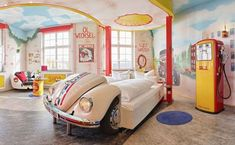 Hotel - Motorworld Region Stuttgart (Germany) is a themed hotel for kids and adults alike. Boys of all ages will be amazed by the detailed car-themed rooms.