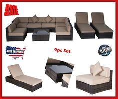 Details About Patio Furniture Sets Clearance Outdoor Sofas U0026 Sectionals On  Sale Modern Wicker