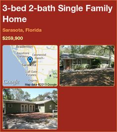 3-bed 2-bath Single Family Home in Sarasota, Florida ►$259,900 #PropertyForSale #RealEstate #Florida http://florida-magic.com/properties/12490-single-family-home-for-sale-in-sarasota-florida-with-3-bedroom-2-bathroom