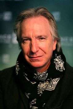 Alan Rickman...who I should very much like to read me the phone book...