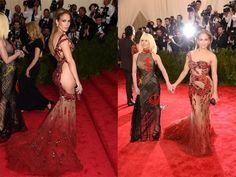 No one knows the power of a dress like J.Lo, and this sheer dragon concoction by Donatella Versace is all the proof you need. There's even a surprise on the side showing off her most coveted asset.