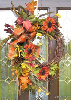 Gorgeous Fall colors! FALL WREATH by EverythingFloral