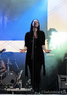 lady in black: Made of Metal 2015 #draconian #heikelanghans  #heike #lorelei #sovran #doommetal #doom