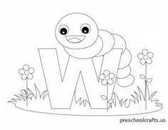 printable animal alphabet coloring pages letter w