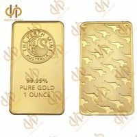 Wish Australia The Perth Mint 1 Ounce Gold Bullion Clad Bar Fine Gold 999 9 Replica Souvenir Coins Collection Gold Bullion Coin Collecting Gold Investments