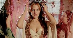 Hurrem goes into the alcove just after the wedding.