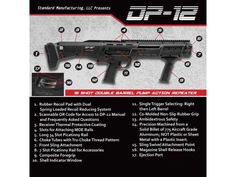 Standard Manufacturing Dp 12 Double Barrel Pump Repeater Shotgun 12