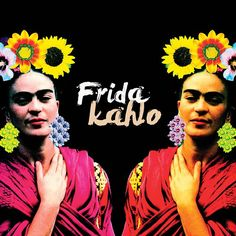 Frida Kahlo 9, por Ana Paula Hoppe #fridakahlo #flowers