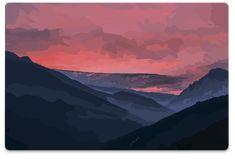 Laptop Skin Laptop Skin, Colorful, Mountains, Sunset, Nature, Travel, Naturaleza, Viajes, Destinations