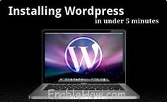 How to install wordpress on your computer