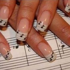 Music note nails:)