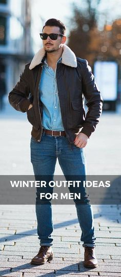 Winter outfit ideas for men #mensoutfitswinter
