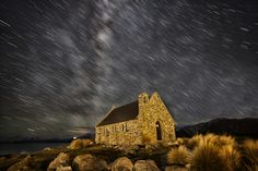 Tekapo Star Trails by Maxwell Campbell, via 500px