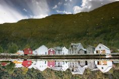 Reflection shot somewhere near Ardal in Norway by drifterphotos