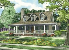 This 1.5 story Country features 2039 sq feet. Call us at 866-214-2242 to talk to a House Plan Specialist about your future dream home!