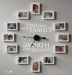 Reloj de pared con fotos