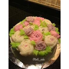 Flower jelly cream pudding