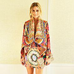 Day 23:  Mara Hoffman dress, Haute Hippie blouse, Camilla vest, Christian Louboutin heels, C. Wonder belt, Julia Parker striped clutch #30Looks30Days