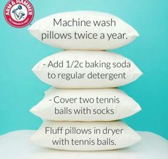 Washing pillows