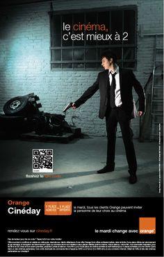 #pub #Orange #Cineday   le cinéma c'est mieux à 2.