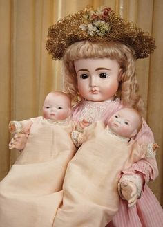Sanctuary: A Marquis Cataloged Auction of Antique Dolls - March 19, 2016: Grand German Bisque Closed Mouth Child Doll, 16X, by Kestner