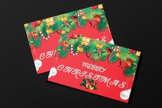 Freebie : Christmas Greeting Card Template Download : http://www.gsjha.com/christmas-greeting-card-template/
