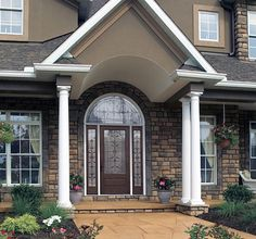 Designing your Front Entryway #entryways #frontdoors #curbappeal #newconstructiontips
