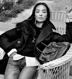 The Peacoat, worn by Fei Fei Sun. Photographed by Steven Meisel