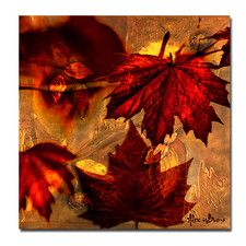 'Fall Flowers' by Alexis Bueno Oversized Wrapped Canvas Wall Art