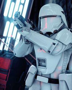 Star Wars: Battlefront - First Order Snowtrooper Star Wars Rebels, Star Wars Rpg, Star Wars Pictures, Star Wars Images, Star Wars Characters, Star Wars Episodes, Stargate, Star Wars Personajes, Star Wars Design