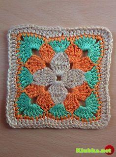 Crochet Flower Squares, Crochet Squares Afghan, Crochet Motifs, Hexagon Pattern, Granny Square Crochet Pattern, Crochet Blocks, Crochet Flower Patterns, Hand Embroidery Patterns, Crochet Blanket Patterns