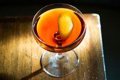 Kümmel Trident 1 ounce kümmel 1 ounce Cynar 1 ounce amontillado sherry 2 dashes orange bitters Garnish: orange peel