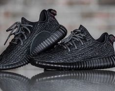 Adidas Yeezy 350 Boost v2 Core BY 1604 a rayas Negro / Blanco Para
