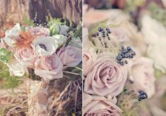 white anemone and lavender rose bridal bouquet | photo by Millie Batista | 100 Layer Cake