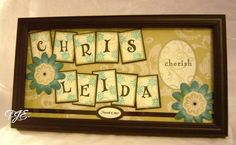 wedding gift using first names