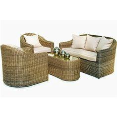 Maze Rattan Winchester Rounded Garden Sofa Set