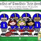 Clip Art for Teachers: Football Team Freebie  For Personal or Commercial Use. Not for re-sale.  May be used in educational material.  Included in t...