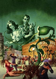 Earle Bergey - Revolt of the Triffids, 1952.