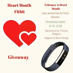 Win A FitBit Alta! Giveaway starts today Feb 10 - 28 2016  It is Heart Month and we are bringing attention to the need to have a healthy heart through diet and exercise. What better way than with the latest in fitness accessories.  Enter today to win your FitBit Alta. follow the link in profile for giveaway entry on blog.  #fitbitAlta #fitbit #giveaway #hearthealth #heartmonth #bloggiveaway #fitnessaccessories #fitness #health #weightloss #healthiswealth #teamMirrorWatching